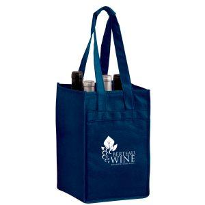 Vine4 Four Bottle Non Woven Wine Tote Bag