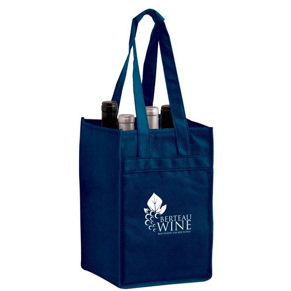 Vine4 Four Bottle Reusable Wine Bags Bulk