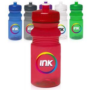 20 oz Push Cap Bike Water Bottles