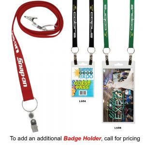 """3/4"""" Recycled Econo Dual Attachment Lanyard"""