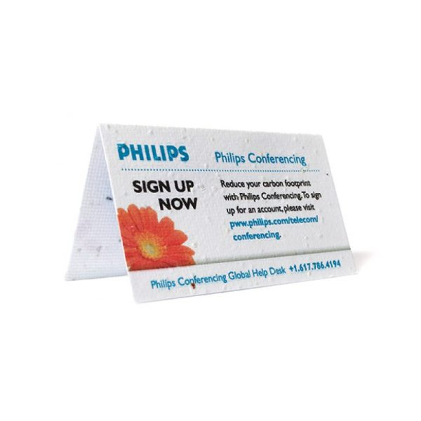 Seed Paper Folding Business Card