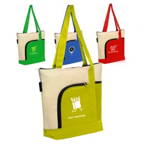 Zipper Polyester Tote Bags ATOT92