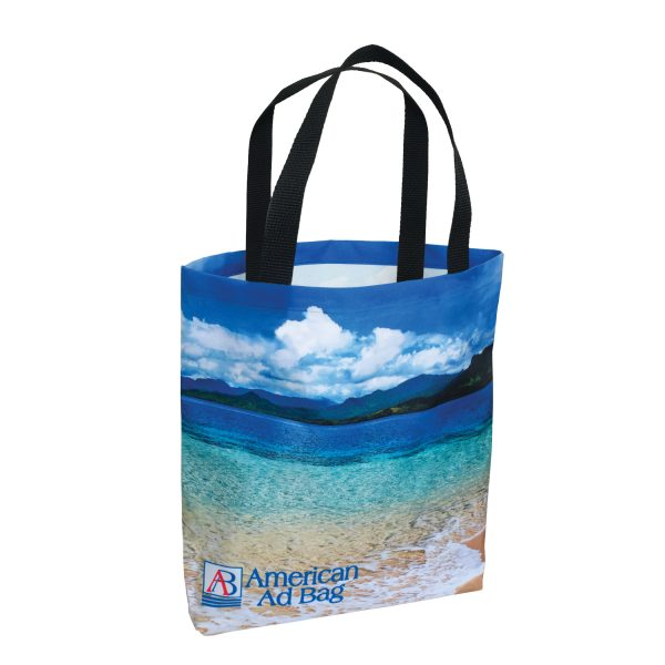 AMSUB1313 Dye Sublimation American Made Polyester Tote Bag