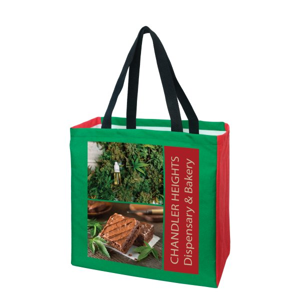 AMSUB13613 Dye Sublimation American Made Polyester Tote Bag